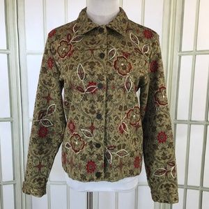 Laura Ashley Tapestry Embroidered Top Blazer